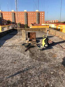 limpieza y reparación de tejado